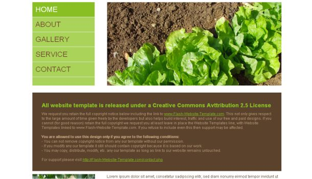 Free Agro Nature Brown Website Template