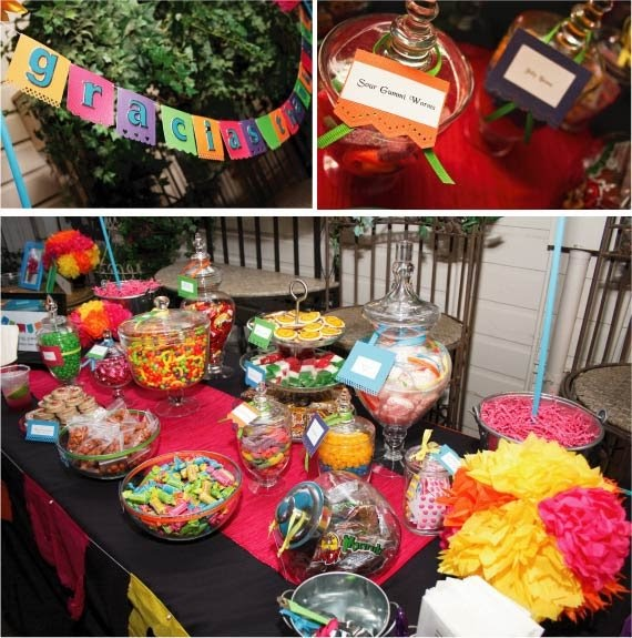 Mexican Themed Wedding Reception: M And M Wedding: Candy Buffet