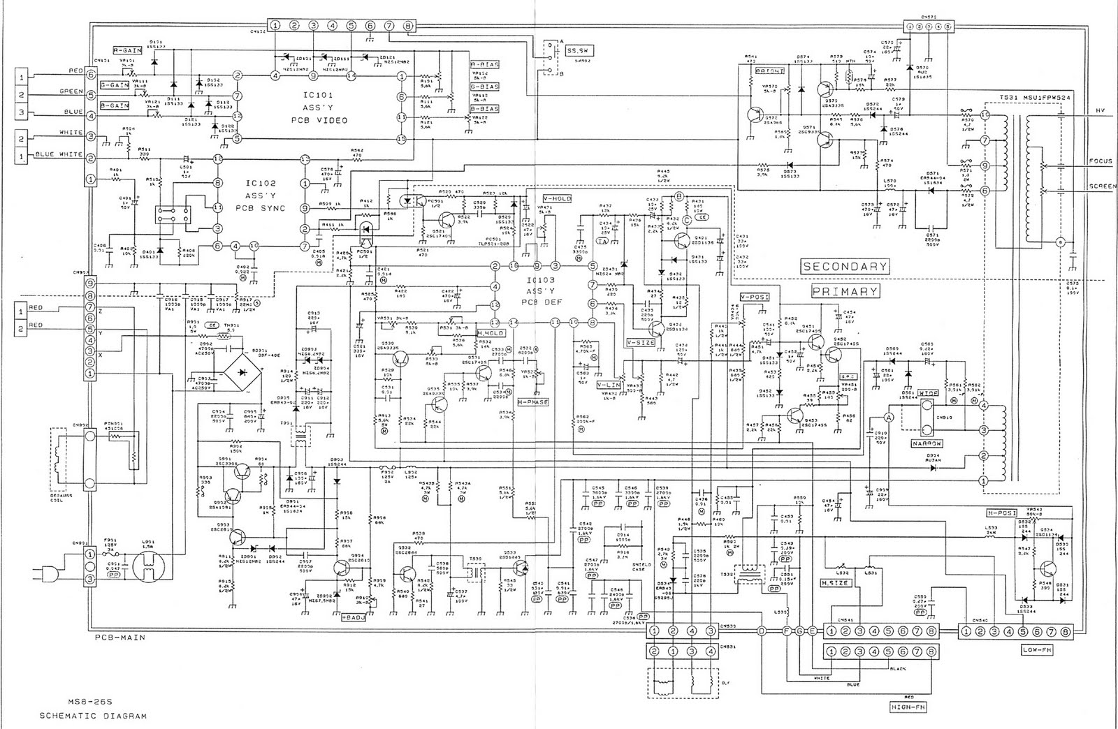 Nanao Ms8 26a Chassis Schematic Or Cap List