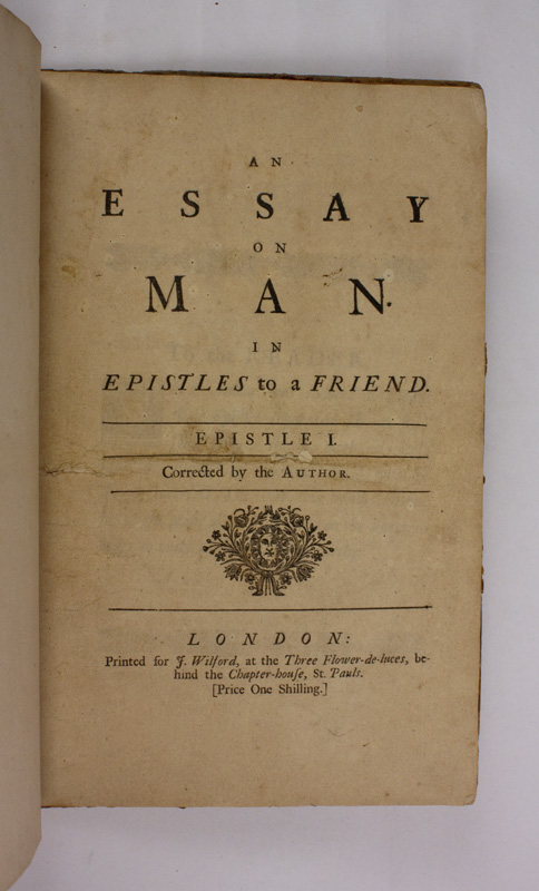 By Alexander Pope Essay On Man