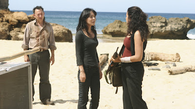 Lost - The Substitute - Michael Emerson as Ben Linus, Yunjin Kim as Sun Kwon & Zuleikha Robinson as Ilana