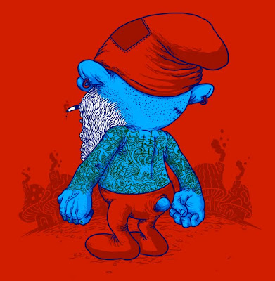 Threadless - The Smurfs Inspired T-Shirt It's A Hard Life by Alex Solis