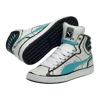 Puma First Round Sketch Sneakers - Vaporous Gray and Maui Blue