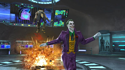 Mortal Kombat vs. DC Universe Screenshots - The Joker vs. Scorpion