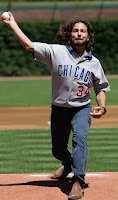 Eddie Vedder Throwing Out The First Pitch At A Chicago Cubs Baseball Game