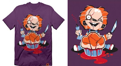 Johnny Cupcakes - There's Something In The Cupcake Mix Limited Edition Halloween T-Shirt Series - Sir Charles T-Shirt