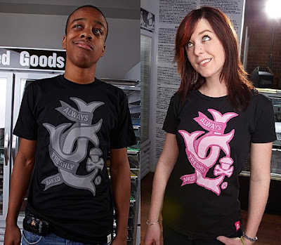 Johnny Cupcakes - Linked Grey and Pink T-Shirts