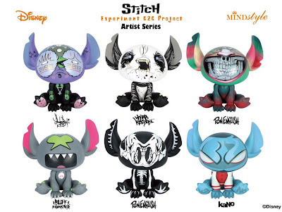 Disney x MINDstyle Stitch Experiment 626 Project Artist Series Vinyl Figures