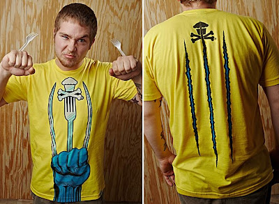 Johnny Cupcakes x X-Men Origins: Wolverine Weapon XJC Guys T-Shirt Front & Back