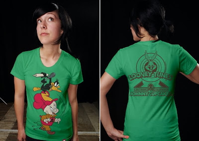Johnny Cupcakes x Warner Bros. Looney Toons T-Shirts - Elmer Fudd and Daffy Duck T-Shirt