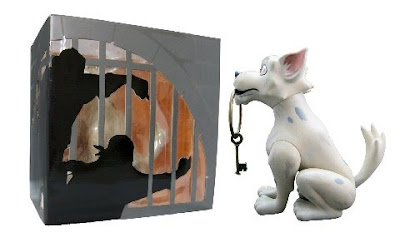Disney x Span of Sunset Key Dog Vinyl Figure and Window Box Packaging