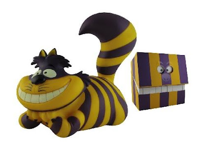Disney x Span of Sunset The Parade Ring Cheshire Cat Vinyl Figure Los Angeles Lakers Colorway and Packaging