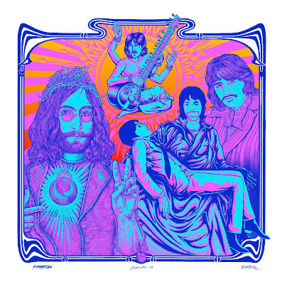 PNE - I'd Love To Turn You On Regular Edition The Beatles Art Print by Justin Hampton, Emek & Jermaine Rogers