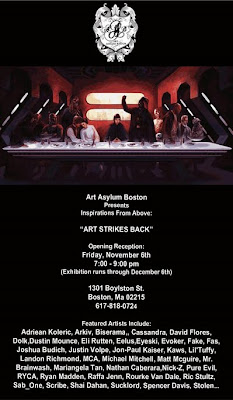 Art Asylum Boston presents Inspirations From Above: Art Strikes Back, a Star Wars Themed Art Exhibition
