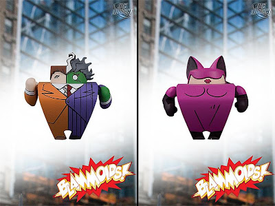 Blammoids! Series 3 by DC Direct - Two-Face and Catwoman PVC Vinyl Mini Figures