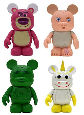 Disney Vinylmation Toy Story 3 Inch Series - Lotso, Big Baby, Army Sarge & Buttercup