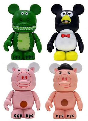 Disney Vinylmation Toy Story 3 Inch Series - Rex, Wheezy, Hamm & Mystery Chase Hamm as Evil Doctor Pork Chop