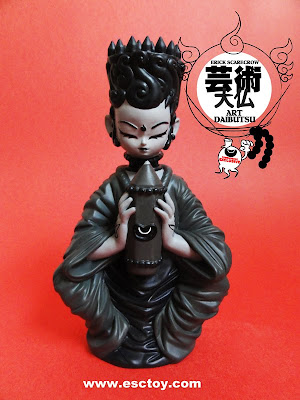 Tomenosuke Exclusive Art Daibutsu Gray 6 Inch Resin Figure by Erick Scarecrow