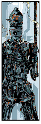 "Mondo Star Wars Screen Print Series #7 - Bounty Hunters Wave 1 ""IG-88"" by Ken Taylor"