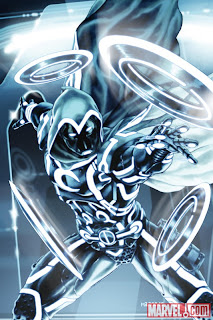 Marvel Comics - Secret Avengers #7 TRON Legacy Variant Cover featuring Moon Knight by Mark Brooks