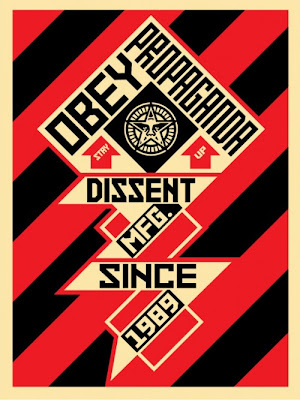"Obey Giant ""Constructivist Banner"" Black Screen Print by Shephard Fairey"