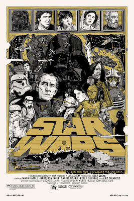 Mondo Star Wars Screen Print Series #20 - The Original Star Wars Trilogy Set by Tyler Stout - Star Wars Variant