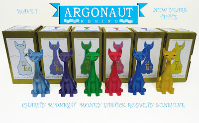 New Years Edition Tuttz Wave 1 Resin Figures by Argonaut Resins - Charity, Midnight, Money, Lipstick, Royalty & Sunshine