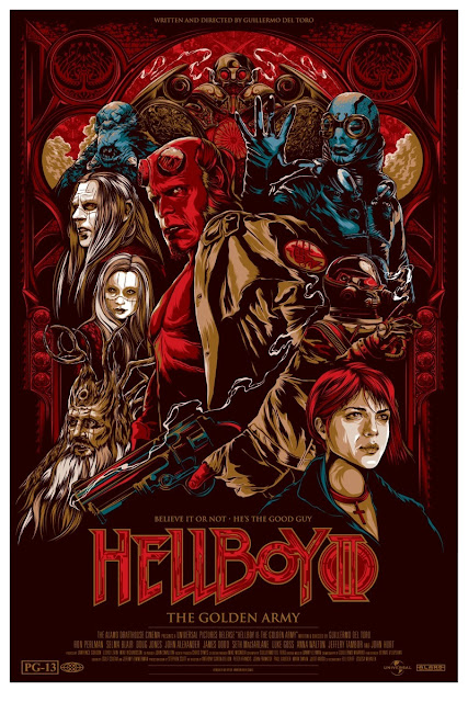 Mondo Tees - Hellboy II: The Golden Army by Ken Taylor