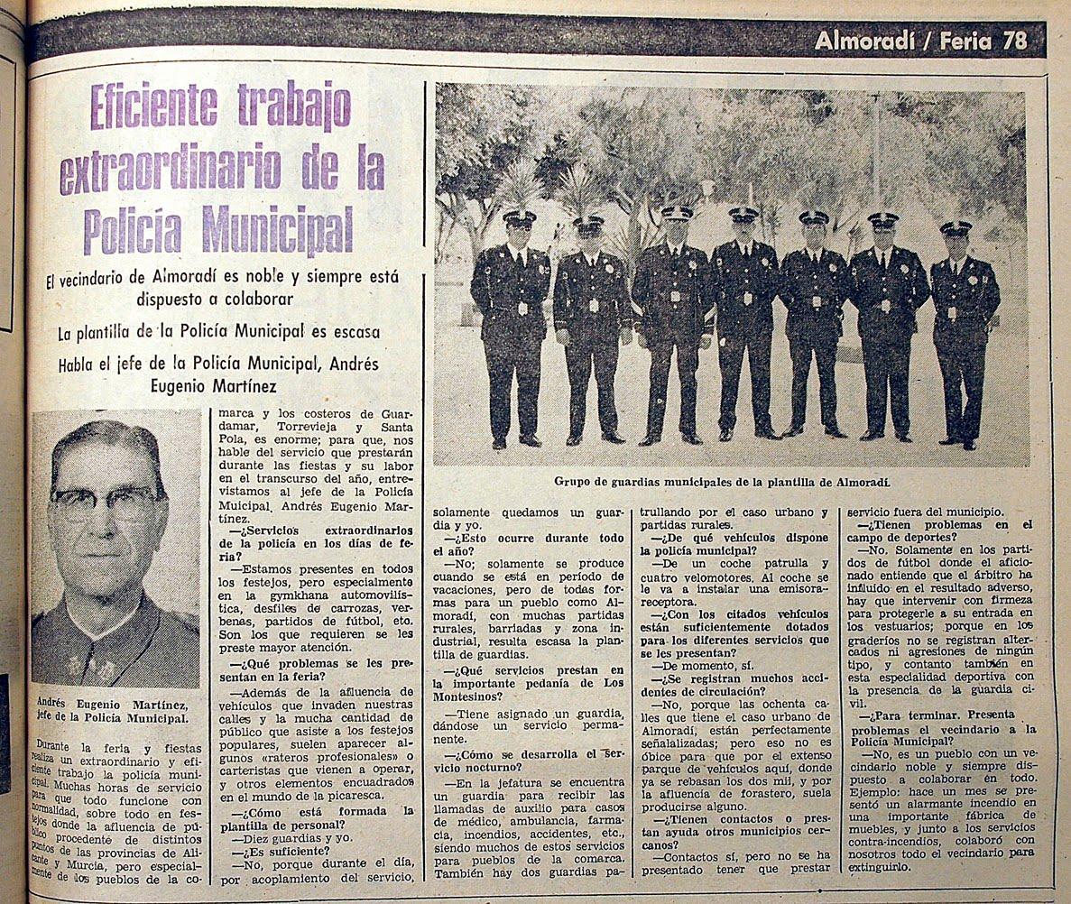 Almoradi 1829 La Policia Local