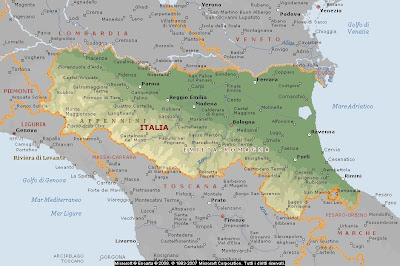 Cartina Geografica Lombardia E Emilia Romagna.Geografia Agosto 2008