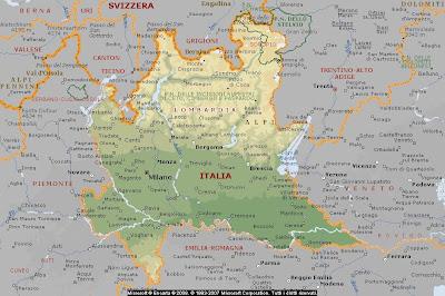 Cartina Geografica Italia Lombardia.Geografia Carta Geografica Italia Lombardia