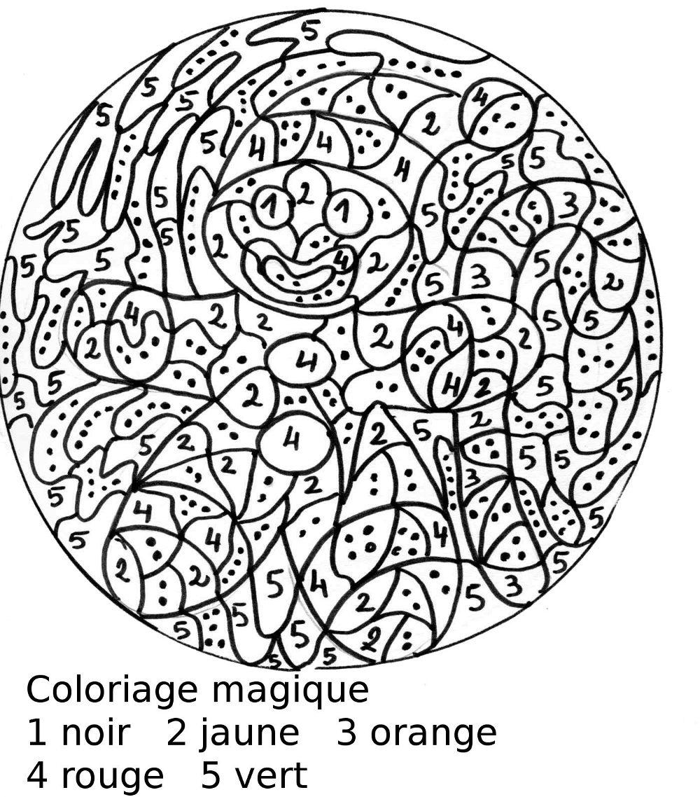 Maternelle: Coloriage magique, le bonhomme en pain d ...