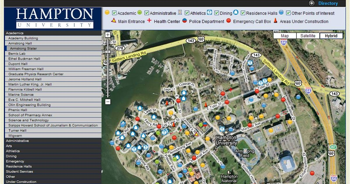 Passport To Graduation Class Of 2012 Hampton University Campus Map