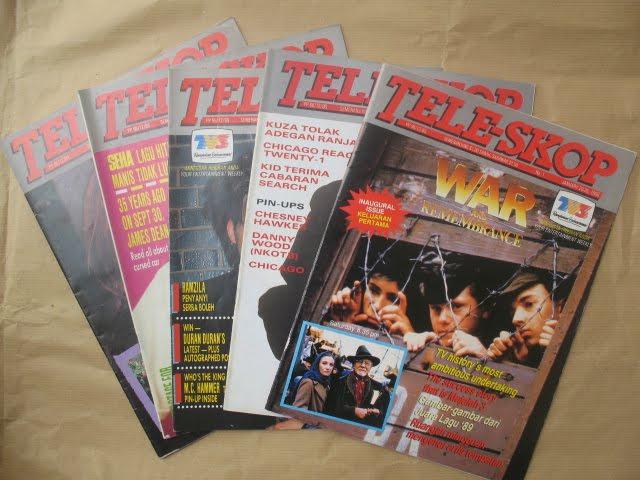 Majalah TELE-SKOP (TV3) Keluaran Pertama 1990  Blues Riders