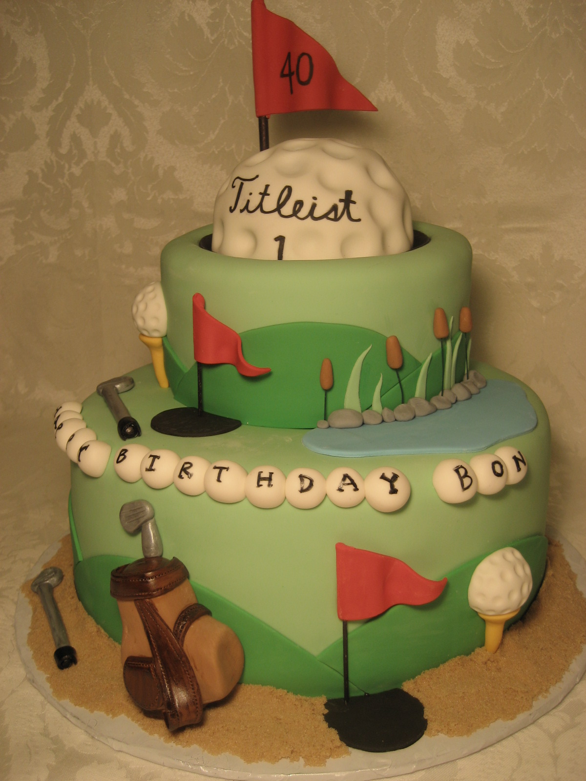 40th Birthday Golf Cake Pictures