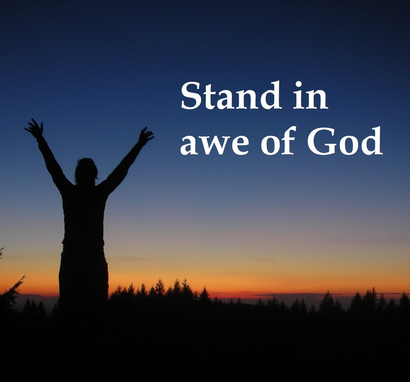 musings stand in awe of god � the creator