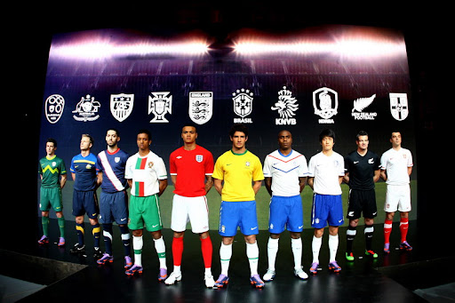 Nike's 2010 national team jerseys made from recycled plastic bottles