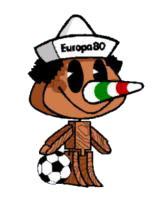 Pinocchio Euro 1980 mascot