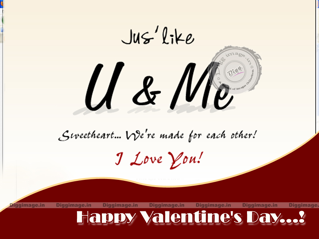 Made For Each Other: U & Me Sweetheart... We're Made For Each Other Valentines