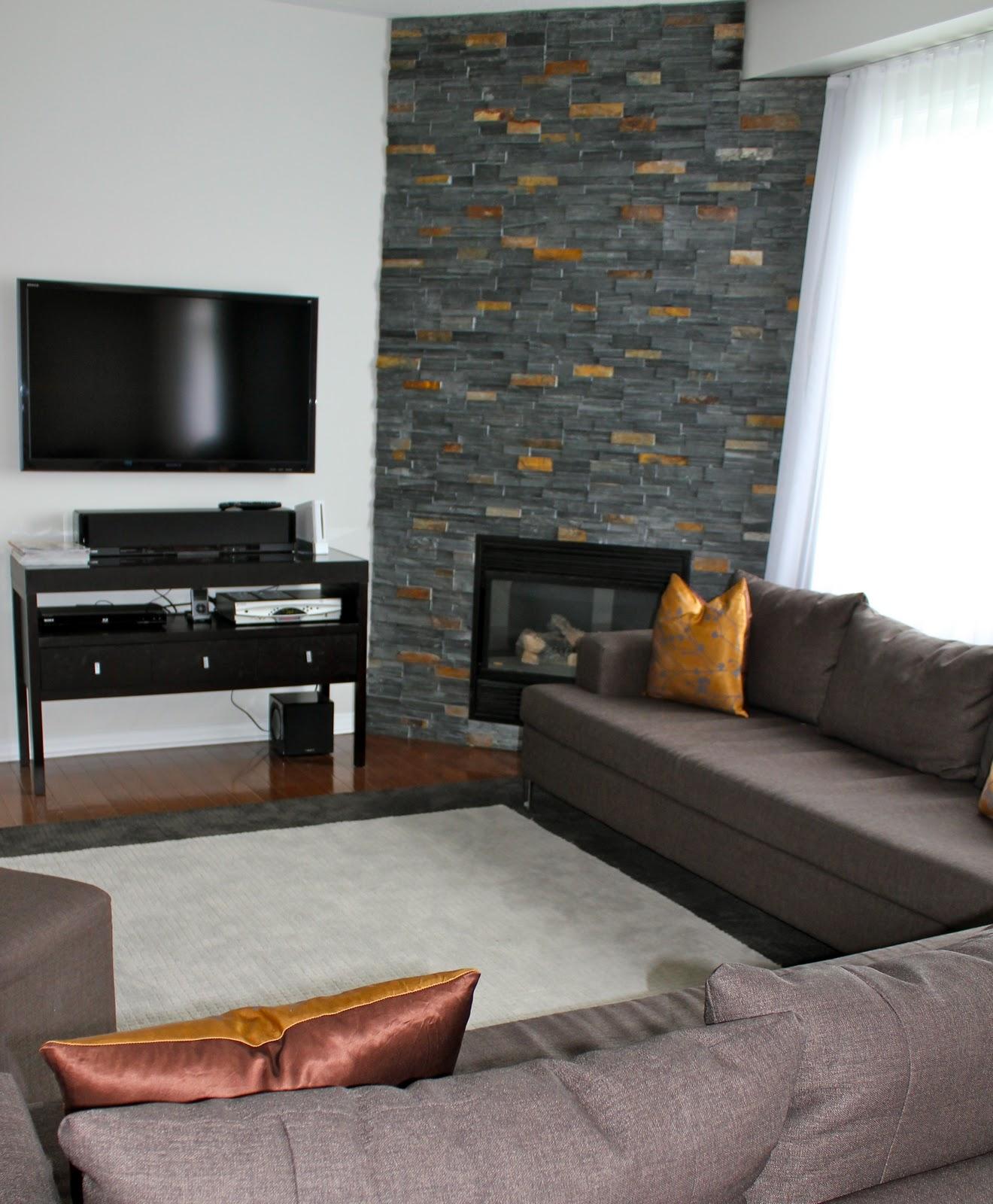 DESIGNWALI: My Desi Home - Corner Fireplace Family Room Photos