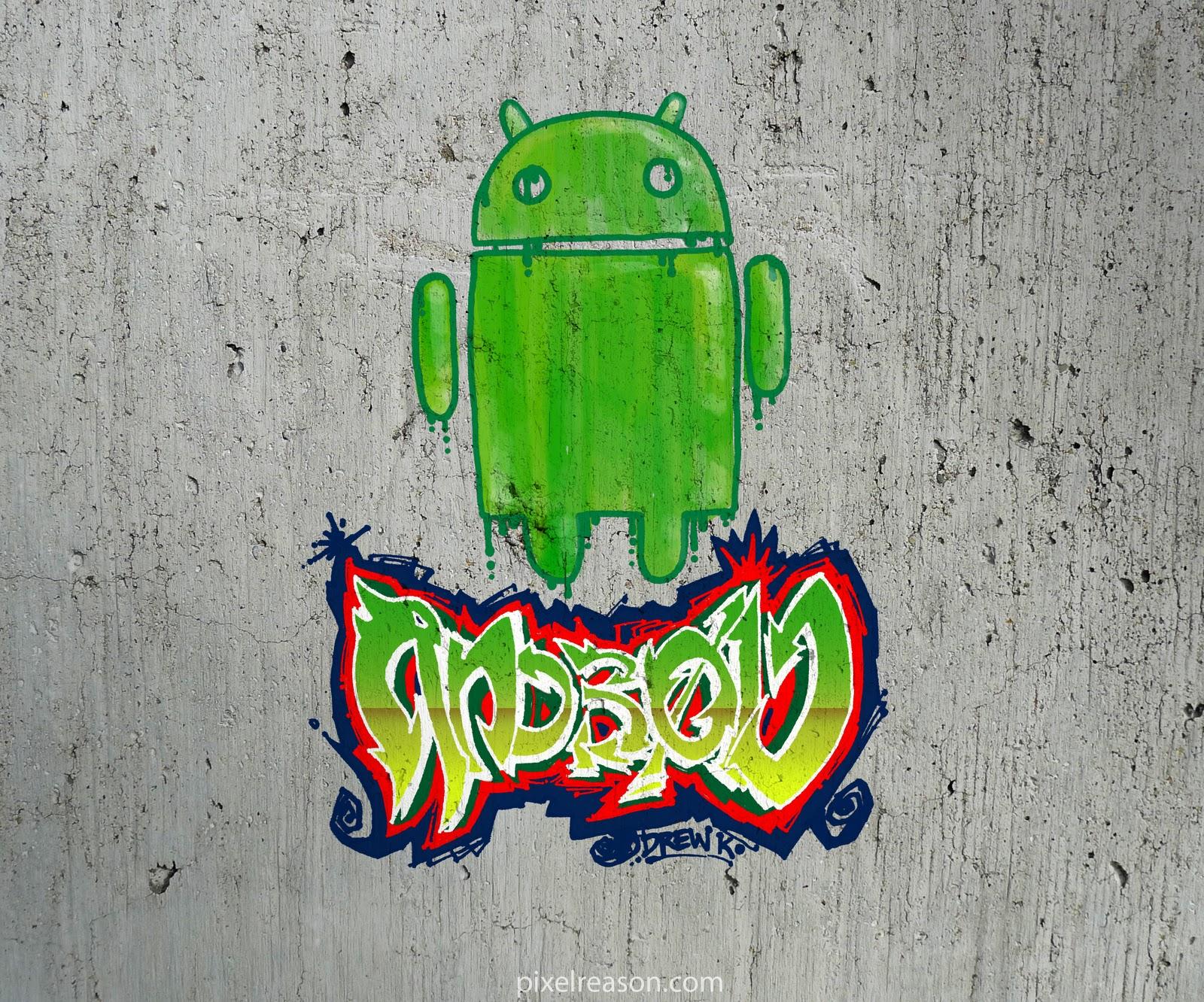 Inked Girl Hd Wallpaper Pixelreason Com Droid Does Graffiti Concrete Variant