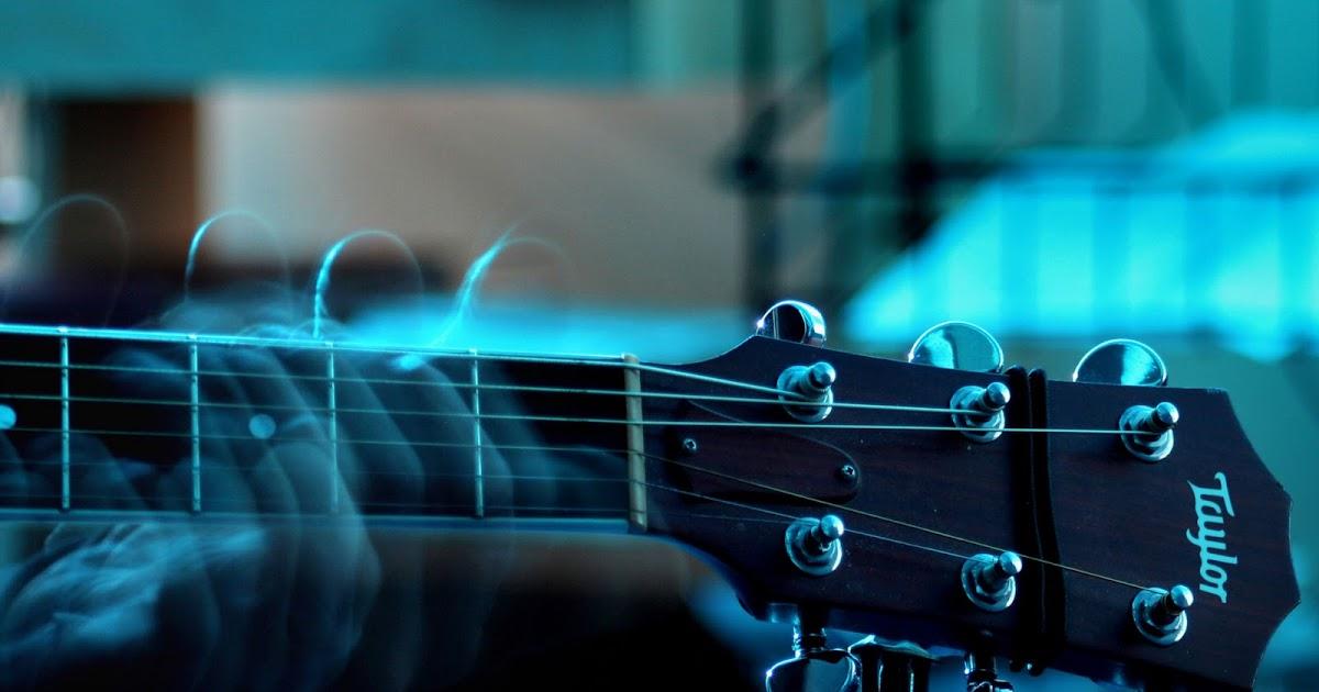 Music Playing Taylor Guitar Music Desktop Hd Wallpaper