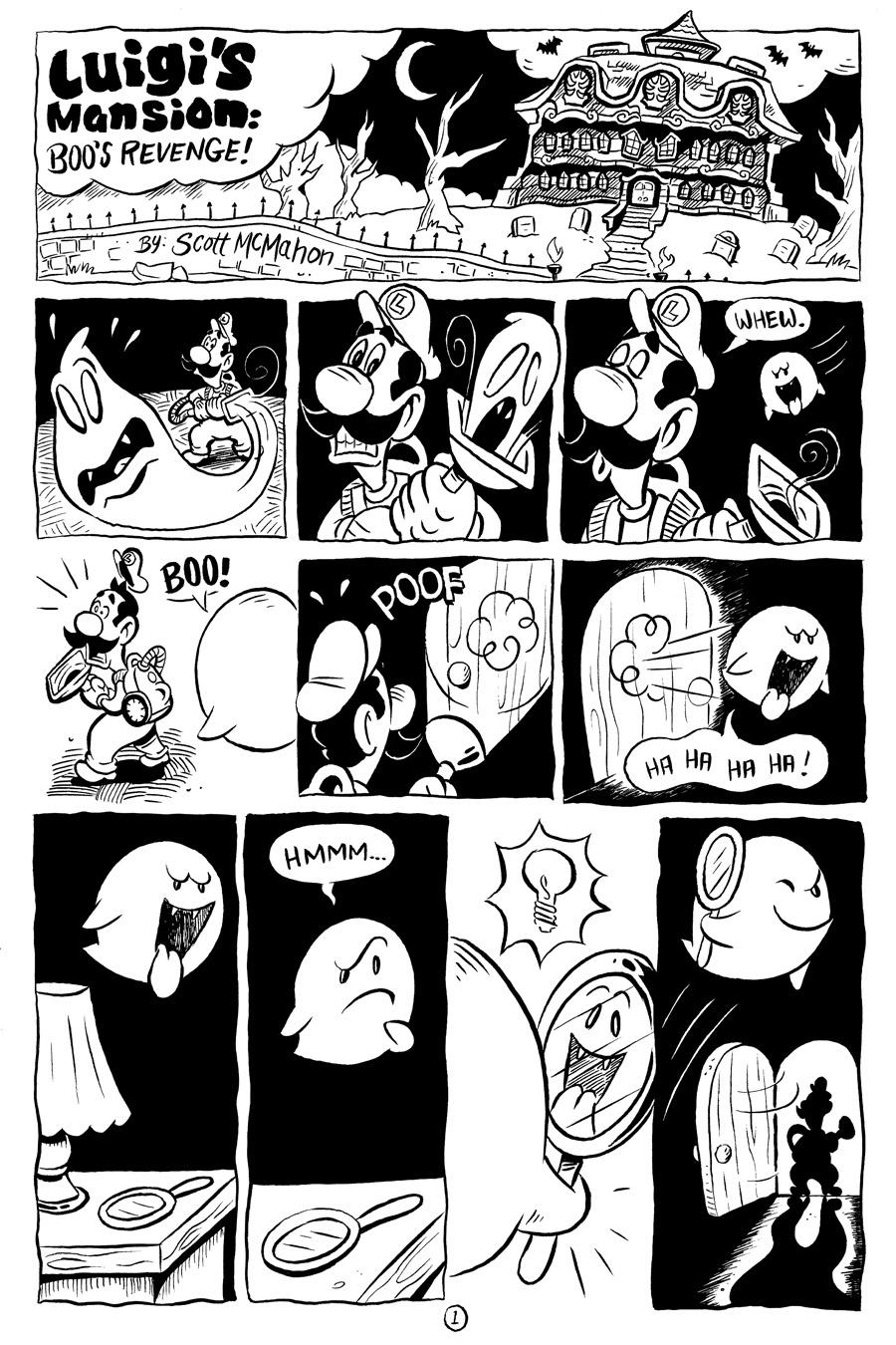 Scoot Sketches Luigi S Mansion Comic