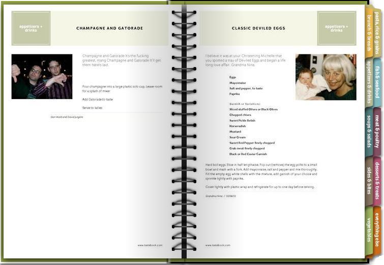 homemade cookbook template