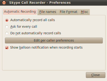 Recording Skype Calls on UbuntuLinux 10.04 Lucid Lynx and Win/Mac