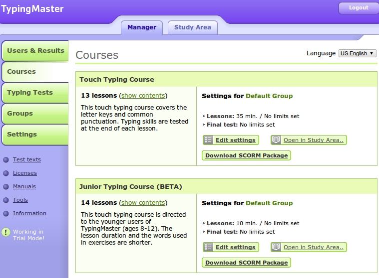 Online Typing Tutors #moodle | Around the Corner-MGuhlin org