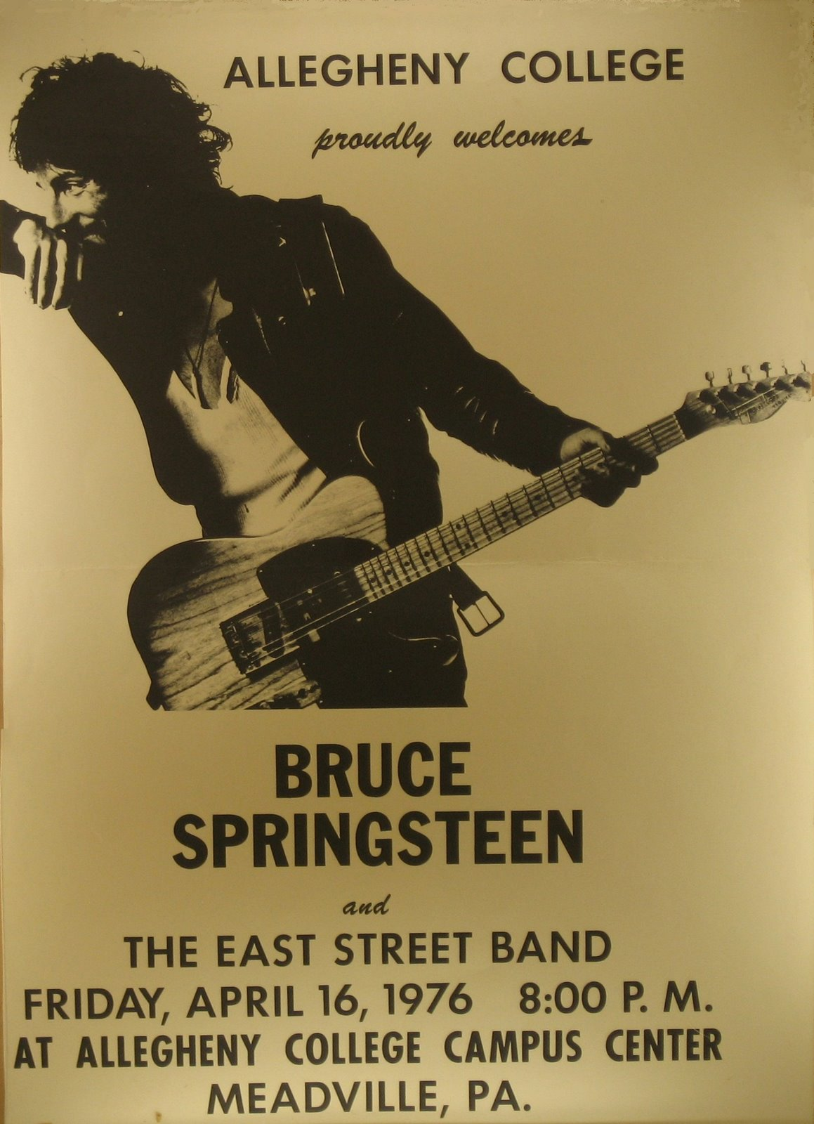 Audio Archive Bruce Springsteen At Allegheny College