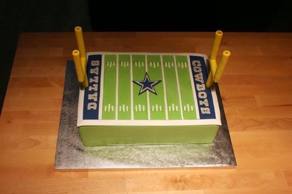 Frosted Garden Dallas Cowboys Field Cake Polka Dot Baby