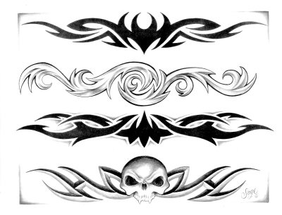 Tattoo Fonts Tribal Tattoos Designs