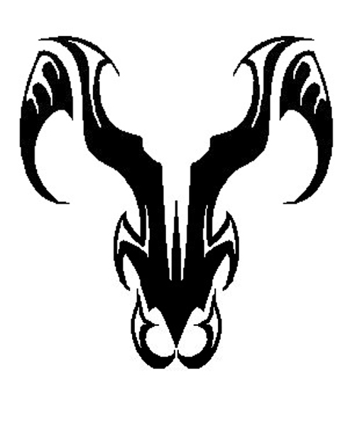 08ba274899868 Another great option is a ram profile done in pieces, giving a similar  appearance as stained glass. Tribal aries tattoo designs